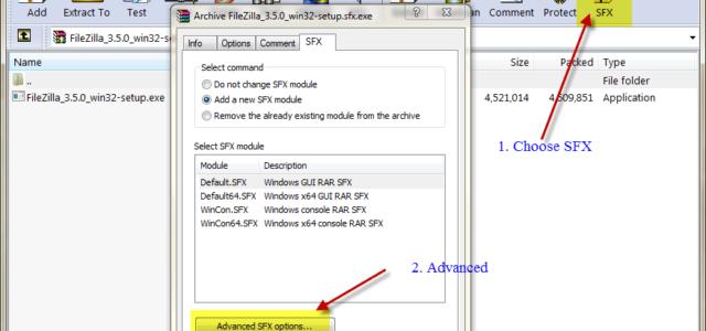 Создание инсталляционного пакета с помощью WinRAR